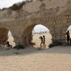 Beach Scene, Caesarea, Israel, 2010